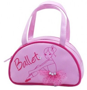 Pink poppy ballet girl handbag
