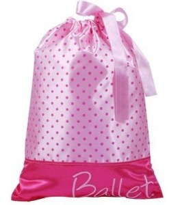 Pink poppy ballet girl shoe bag