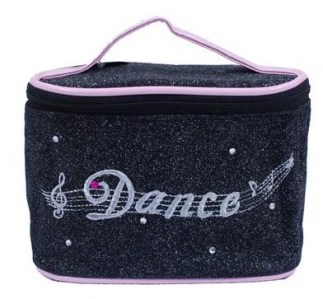 Pink poppy dance diamonte cosmetics bag