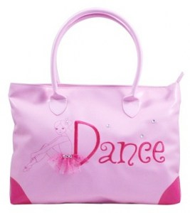 Pink poppy dance girl tote